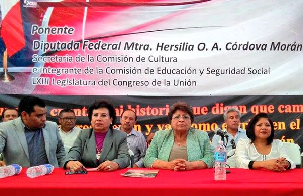 Reforma educativa debe contribuir a la superación de México: Hersilia Córdova