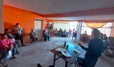 Activistas de Antorcha se reúnen con vecinos de Rincón de Romos