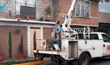 En Ixtapaluca mejora seguridad por aumento de alumbrado público