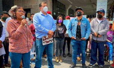 Texcocanos protestan por inacción del gobierno municipal