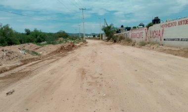 Anuncian compactación de calles en colonia La Antorcha