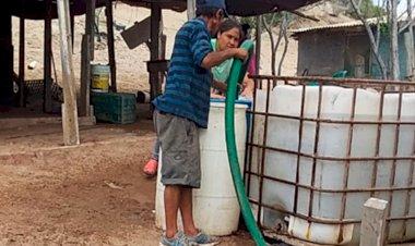 Reinician abasto de agua para El Sahuímaro