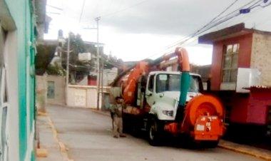 Antorcha gestiona desazolve en Nicolás Romero