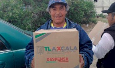 Campesinos de Tlaxcala reciben despensas