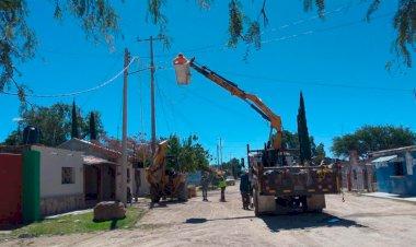Electrificación beneficia a familias de Lagos de Moreno